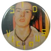Sex Pistols - 'Sid Padlock Chain' Button Badge